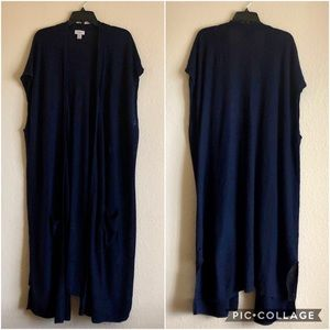 Old Navy Open Front Sleeveless Maxi Duster size 4X